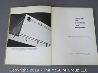 "Book Title: ""Lettering For Architects and Designers""; authored by Milner Gray and Ronald Armstrong; published by Reinhold, New York; 1962"