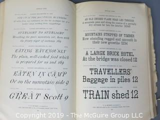 "Trade Catalog: ""Handbook of Printing Types: Specimens For Printers""; Bruce's New York Type Foundry; offered by V. B. Munson, successors to Geo. Bruce's and Sons; New York;   WILL SHIP"