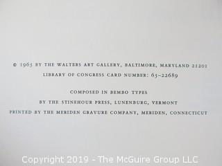 "Book Title: ""Two Thousand Years of Calligraphy - A Comprehensive Catalog; 1965; A Three Part Exhibition organized by The Baltimore Museum of Art, Peabody Institute Library and Walters Art Gallery"