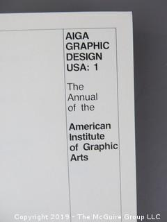 "Book Title: ""AIGA Graphic Design USA: 1 -The Annual of the American Institute of Graphic Arts""; authored by C. Ray Smith; designed by Miho; published by Watson-Giptill, New York;  1980"