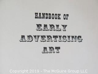 "Book Title: ""Handbook of Early Advertising Art""; authored by Clarence P. Hornung; 3rd Edition; 1956; published by Dover  WILL SHIP"