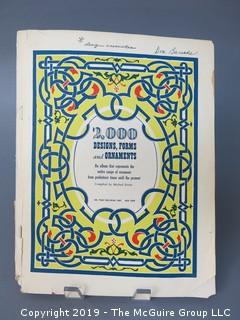 "Book Title: ""2000 Designs, Forms and Ornaments""; compiled by Michael Estrin; published by William Penn; 1947"