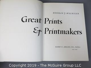 """Book Title: """"Great Prints and Printmakers""""; authored by Herman J. Wechsler; published by Harry N. Abrams, New York; 1967  WILL SHIP"""