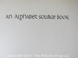 "Book Title: ""An Alphabet Source Book""; authored by Oscar Ogg; published by Dover; 1947"