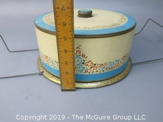 Vintage Cake Tin Carrier