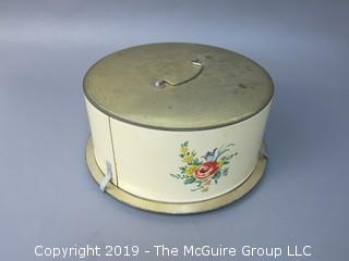 Vintage Cake Tin Carrier; marked Decoware