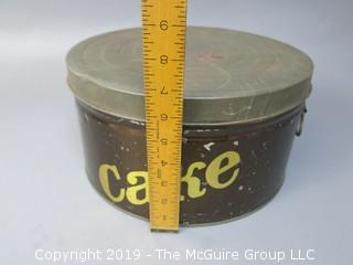 Vintage M-C Stenciled Cake Tin Carrier