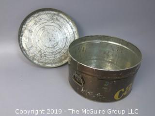 Vintage M-C Stenciled Cake Tin Carrier