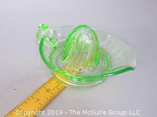 Vaseline Glass Juicer/Reamer