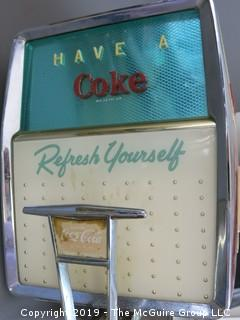 1958 Coca-Cola Soda Fountain Machine; appears mostly intact, includes original carbonator that powers up