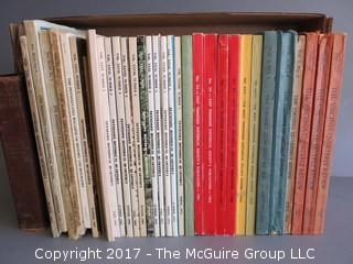 """Collection of books including Historical Quarterly's from W. Tennessee, E. Tennessee, Pennsylvania, North Carolina, Mississippi, and Virginia.  Also includes """"Dulany's History of Maryland, 1632 - 1882. See multiple photos"""