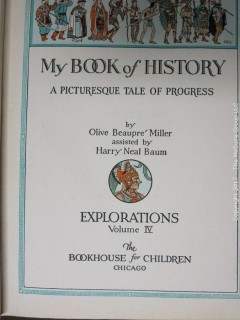 "7 Vol. books ""A Picturesque Tale of Progress"" by Olive, Beaupre and Miller - see multiple photos"
