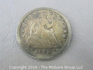 1853 Half Dime
