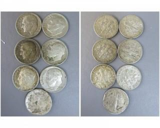 (7) Silver Dimes