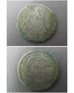 1861 Half Dime