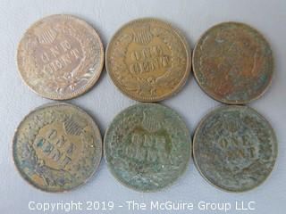 (6) 1903 Indian Head Cents