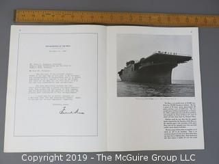 "Magazine: ""Men O' War"";  U.S. Navy Photographs; promotional booklet published by The Newport News Shipbuilding and Dry Dock Company"