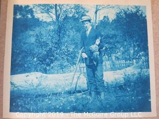Family Photo Album of Mostly Cyanotypes