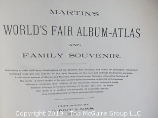 Book: Martin's World's Fair Album-Atlas, published by C. Ropp and Sons