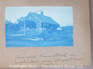 Family Photo Album; Mostly Cyanotypes; Described