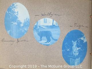 Family Photo Album; Mostly Cyanotypes; Described