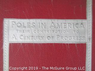"Book: ""Poles in America: Their Contribution To A Century of Progress""; 1933"