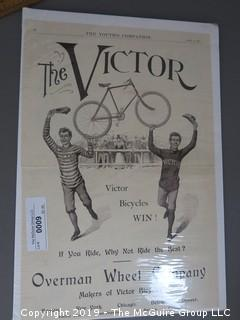 "1895 newspaper advertisement; ""Overman Wheel Company"","