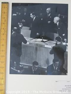 1946 photo of Russian Foreign Minister Andrei Gromyko returning to the UN session