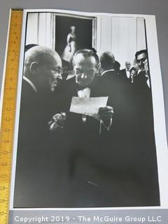 Renowned American photojournalist Arthur Rickerby (1921-1972) B&W photo of Statesman Averill Harriman at the White House