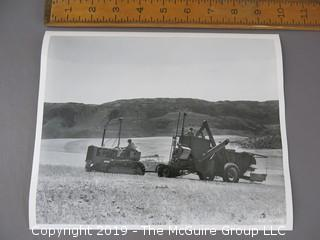 "1954 ""Harvesting""; Breaking Ground""; Wenatchee, Washington; photographed by C. L. Edwards"