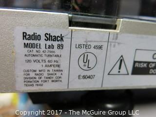 Radio Shack Turntable; model Lab 89; condition unknown