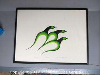 Framed Original Print, titled, numbered and signed by the artist