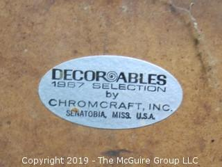 """Pair of 1967 Mid-Century Modern """"Decorables"""" vinyl and chrome base chairs; made by Chomecraft, Senatobia, Mississippi"""