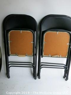 (4) Matching Samsonite folding chairs