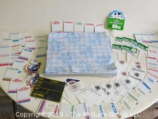 Collection of Cheese placards and hundreds of sheets of specialized cheese breathable wrapping paper