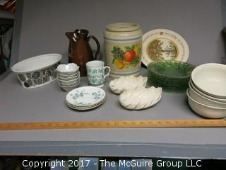 Collection including pottery, porcelain and ceramics