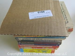 Collection of books by Rex Stout, Gene Wolfe, Flux, Ellis Peters, Lady Murasaki, Tsao Hsueh-Chin and Carl Hiaasen
