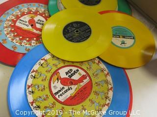 Children's Turntable and collection of vinyl records