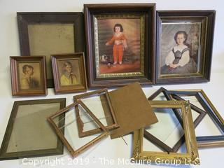 Assortment of wooden frames