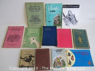 Collection of books including authors Edmund Wunderlick, Nikolia Yefimov and John Edouard McHugh