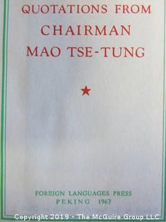"Collection of books including Chairman Mao's ""Little Red Book""; 1967"