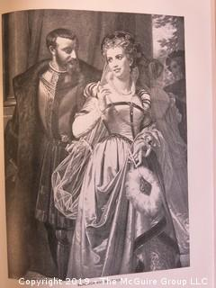 """Book: """"Character Sketches of Romance Fiction and the Drama""""; by Rev. E. Cobham Brewer, LL.D.; Vol I and II; ; published by Selmar Hess; 1902; leather bound"""