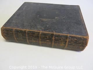 """Book: """"Holy Bible; leather bound; American Bible Society; 1872"""