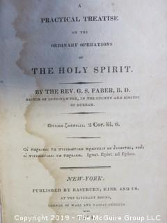 "Book: ""A Practical Treatise on tyhe Ordinary Operations of the Holy Spirit""; by Rev. G.S. Faber, B.D; published by Eastburn, Kirk and Co.; NY, 1814 (leather bound)"