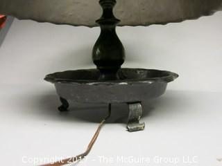 Handmade metal table lamp