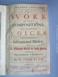Original Bound Music of John Blow.  View all the photos