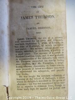 "Leather Book: ""The Seasons"" by James Thomson, printed by T.G. Bangs, published by T. Bedlington; Boston, 1817"