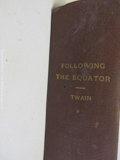 "Book: ""Following the Equator"" by Mark Twain; The American Publishing Co.; 1898"