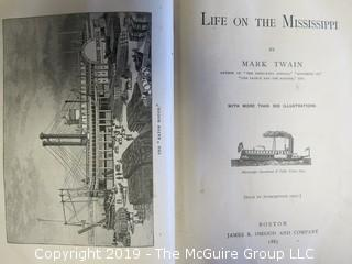 "Leather Book: ""Life on the Mississippi"" by Mark Twain; published by James R. Osgood and Co.; Boston; 1883"