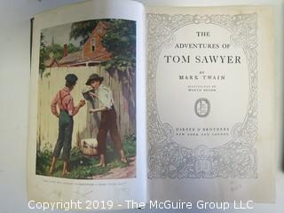 "(2) Books: ""The Adventures of Tom Sawyer"" and ""The Adventures of Huckleberry Finn""; both by Mark Twain; published by Harper and Brothers"